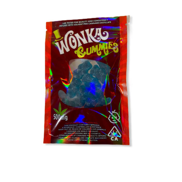 Wonka Gummies Sour Raspberry Bears 500mg